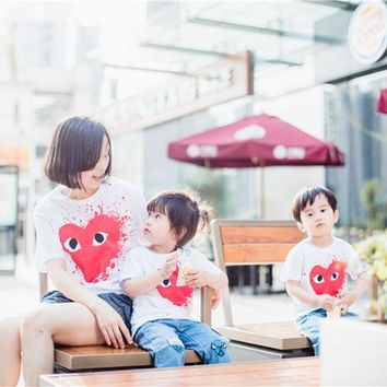 CREYHY3 CHICO 16 Love  Family Outfit Matching Cotton T Shirt ,  Baby Kids Boys& Girls T shirts,Price only for 1pcs