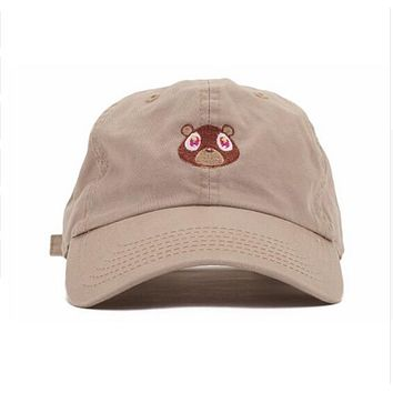 Kanye West The College Dropout Bear Tan Dad Hat