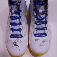ONETOW Stephen Curry Golden State Warriors Signed Under Armour Shoe w/JSA LOA Y70887