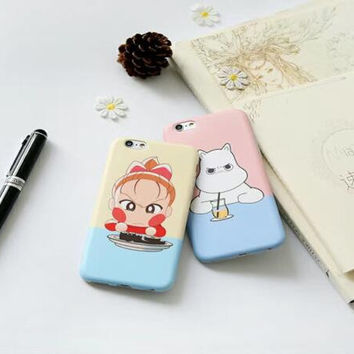 The angry little girl and the little hippo phone case for iPhone 6 6S 6plus 6Splus 1008J01