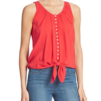 Tie-Front Tank Top | Lord and Taylor