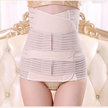Women Maternity 3Pieces Set Maternity Postnatal Belt After Pregnancy bandage Belly Band waist corset Pregnant Women Slim Shapers