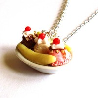 Banana Split Necklace by FatallyFeminine on Etsy