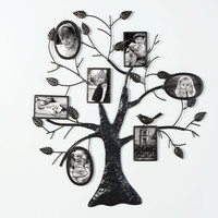 Brown Black Decorative Collage Bronze Iron Metal Wall Haning Family Tree Picture Photo Frame