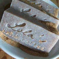 Lavender & Walnut shell Cold Process Soap-100% Natural VEGAN Artisan Soap- Made with Coconut milk