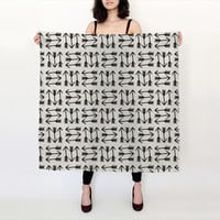 Black and white arrows by Allyson Johnson (Big Square Scarf (36