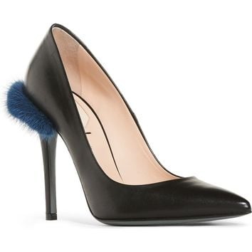 Fendi Duo Pointy Toe Pump with Genuine Mink Trim (Women) | Nordstrom