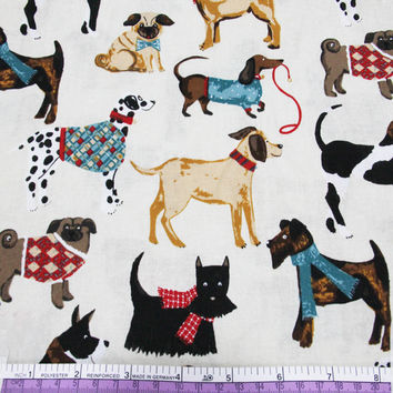 45426 50*147CM Various dogs printed cotton fabric for Tissue Kids Bedding textile for Sewing Tilda Doll DIY handmade materials