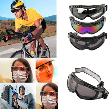 Unisex Safety Goggles Motorcycle Cycling Eye Protection Glasses Tactical Paintball Wind Dust Airsoft Goggles Free shipping