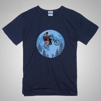 Stranger Things Mike & Eleven Flying Moon Shirt