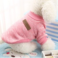 Puppy Dog Winter Warm Cotton Clothes Pet Cat Jacket Coat Sweater Pet Big Size Hoodies Clothing