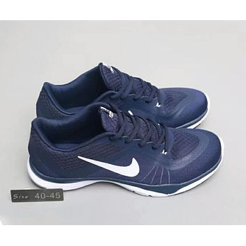 NIKE FLEX TRAINER lightweight breathable comprehensive training shoes F-A0-HXYDXPF blue