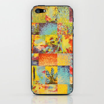 COLORFUL INDECISION 2 - Vibrant Wow Beautiful Abstract Acrylic Painting Collection Nature Rainbow iPhone & iPod Skin by EbiEmporium | Society6