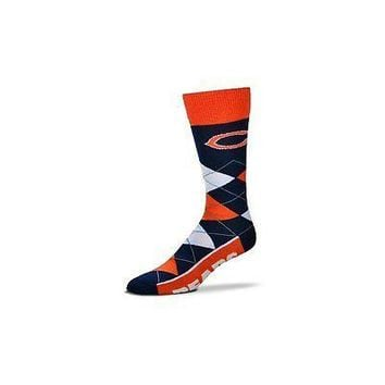 NFL Chicago Bears Argyle Unisex Crew Cut Socks - One Size Fits Most