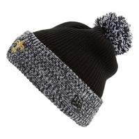 Men's New Era Cap 'Flurry Frost - NFL New Orleans Saints' Pom Knit Cap