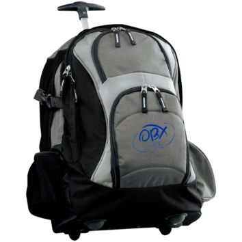 Embroidered Ocean Blue OBX Lyfe Port Authority Wheeled Backpack