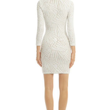 BCBGMAXAZRIA Mosaic Blanca Dress