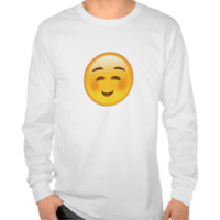 White Smiling Face Emoji Tshirts