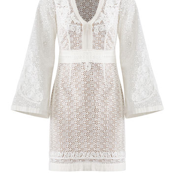 The Kooples White Cotton Lace Dress