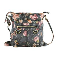 Hipster Vintage Rose Crossbody Bag Purse