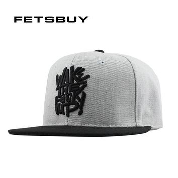 FETSBUY Gorras Planas Hip Hop Cap Snapback Hip Hop Hat Men Basketball Cappelli Hip-Hop Metal Swag Mens Snapbacks 2016 New