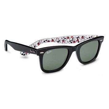 Disney 2018 Mickey 90th Ray Ban Sunglasses Wayfarer with Case and Cloth New