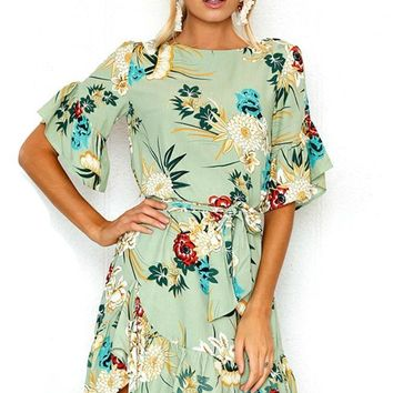 Best Day of My Life Floral Print Dress