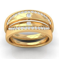 VERY CUTE HIS AND HER LOVE 925 ROSE STERLING SILVER ENAGAGMENT AND WEDDING BAND