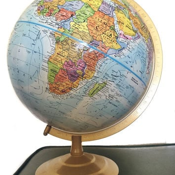 Vintage GlobeMaster Land and Sea World Globe