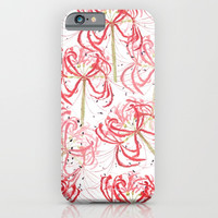 Red spider lily iPhone & iPod Case by Color And Color