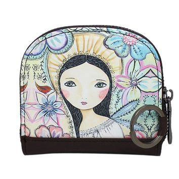 Wallets Purse Cute Hit Color Printing Korean Rounded Zipper Long Women Wallet New Ladies' Clutch Card & Id Holders