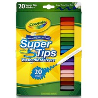 Crayola Super Tips Fine Line Washable Markers, 20 count - Walmart.com
