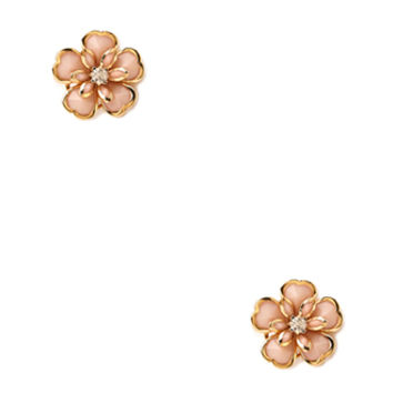 FOREVER 21 Polished Rosette Studs Gold/Peach One