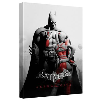 Batman Arkham City - Ac Stand Off Canvas Wall Art With Back Board