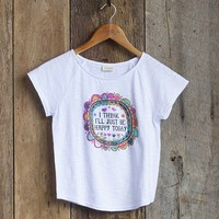 Large  I'll  Just  Be  Happy  Girls  Boho  Tee  From  Natural  Life