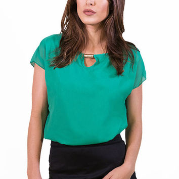 Boss Lady Top Green