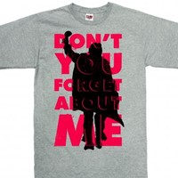 Don't You Forget About Me (Vintage Shirt)-Unisex Dark Ash T-Shirt