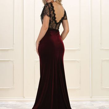 Prom Long Formal Dress Velvet Evening Gown
