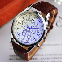 1 PCS Korean Fashion Couple watches analog watch leather strap Wrist watch quartz watch Business watch = 1929766532