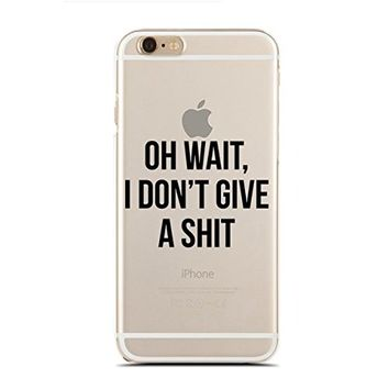 Clear Snap-On case for iPhone 5C - Oh Wait, I Don'T Give A Shit (C) Andre Gift Shop