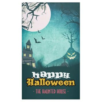Spooky Haunted House Costume Night Sky Halloween Banner