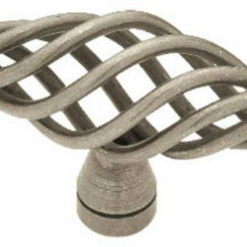"Liberty P0528A-AP-C Large Birdcage Oval Knob, 2-1/2"", Antique Pewter"