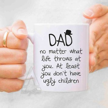 Valentines day gift, Fathers day gift from daughter, fathers day mugs, dad mug, dad gifts from daughter, gifts for dad, new fath
