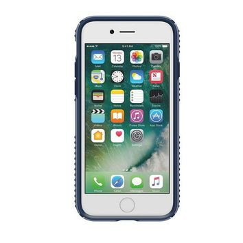 LMFGQ6 Speck Products Presidio Grip Cell Phone Case for iPhone 7 - Twilight Blue/Marine Blue