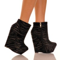 "6"" Wedge Bootie With 2"" Platform"