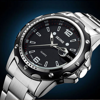 Awesome New Arrival Good Price Trendy Great Deal Stylish Gift Designer's Men Casual Alloy High Quality Waterproof Watch [4919936580]