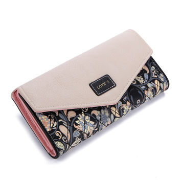Envelope Floral Wallet