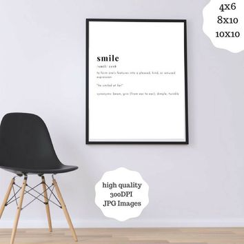 Smile Definition Print Digital Download Funny Definition Printable Definition Poster Smile Nursery Art Smile Printable Word Definition - 02