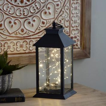 Sparkling LED Pre-Lit Table Lantern