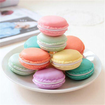 1pc Cute Candy Color Mini Macaron storage box case for Candy jewelry Gift Jewelry storage box Zakka holder Free Shipping N608